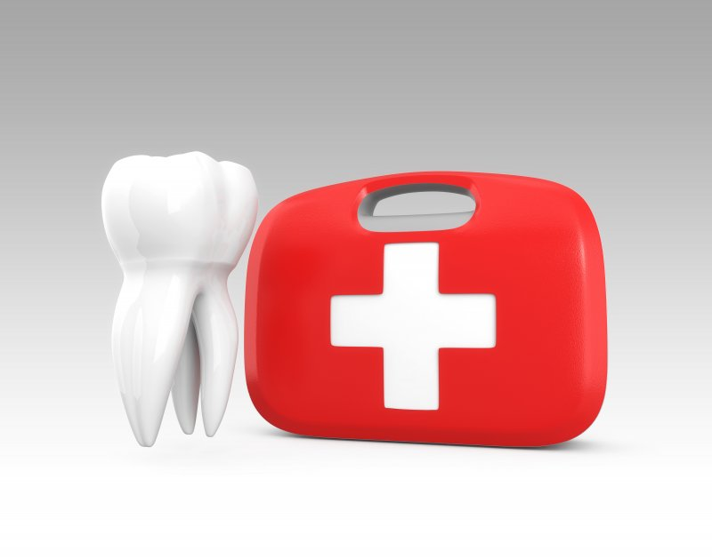 tooth and medical kit for dental emergency